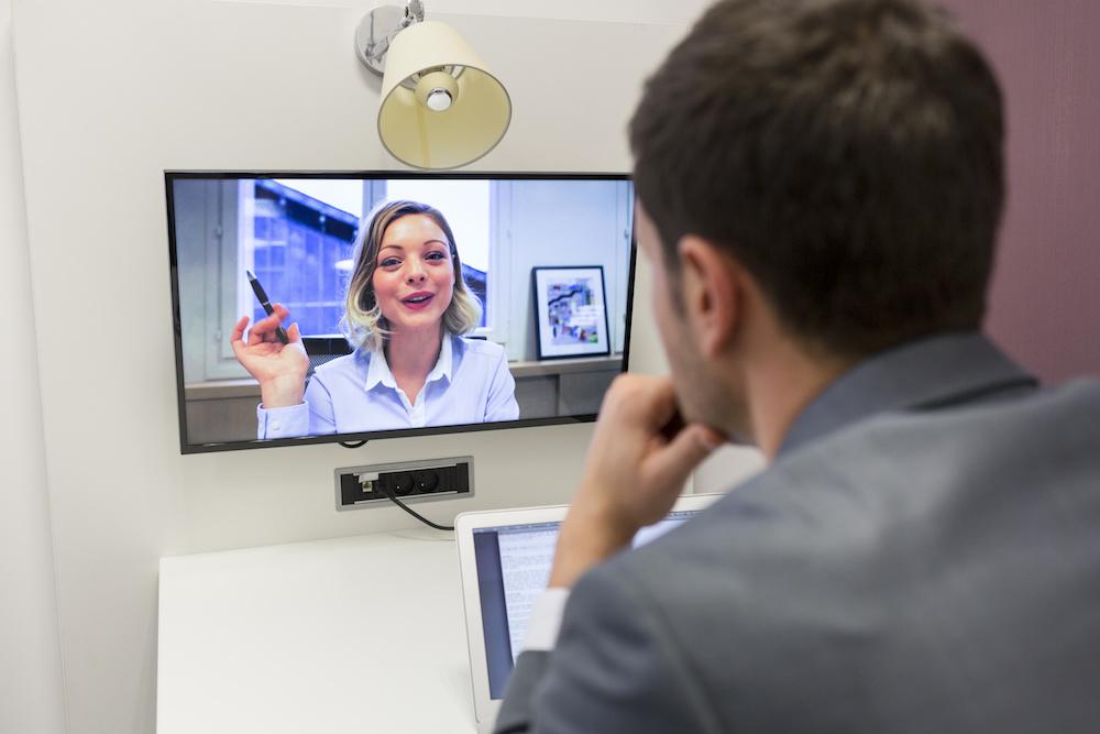 Woman Teaching online