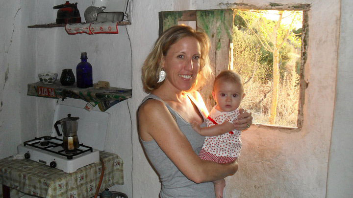 Jen volunteering at an orphanage while she teaches abroad.