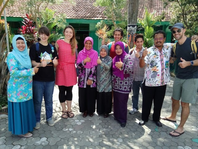 Olivia, a teacher in China, on during a professional development event in Indonesia
