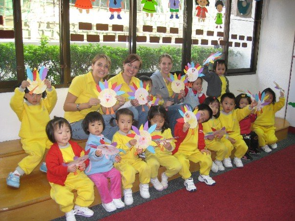 Teaching kids in China
