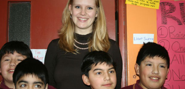 Coleen, teaching in Chile as part of English Opens Doors