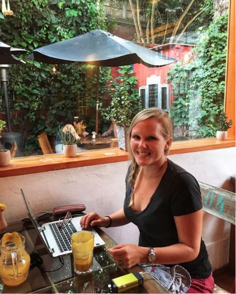 Rachel teaching online