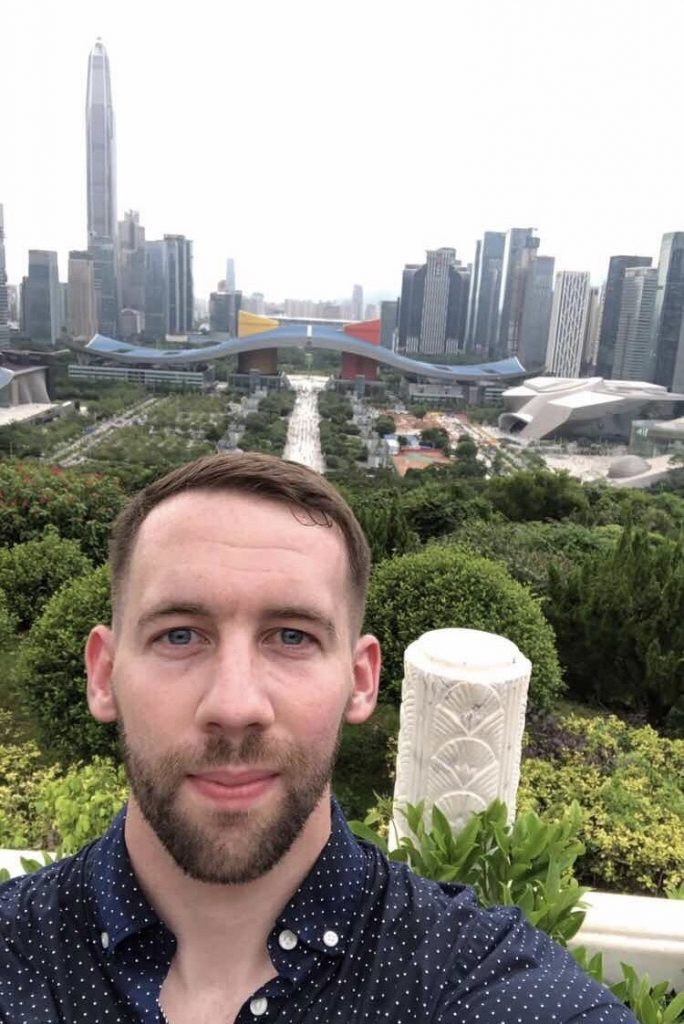 English teacher, Brendan in China