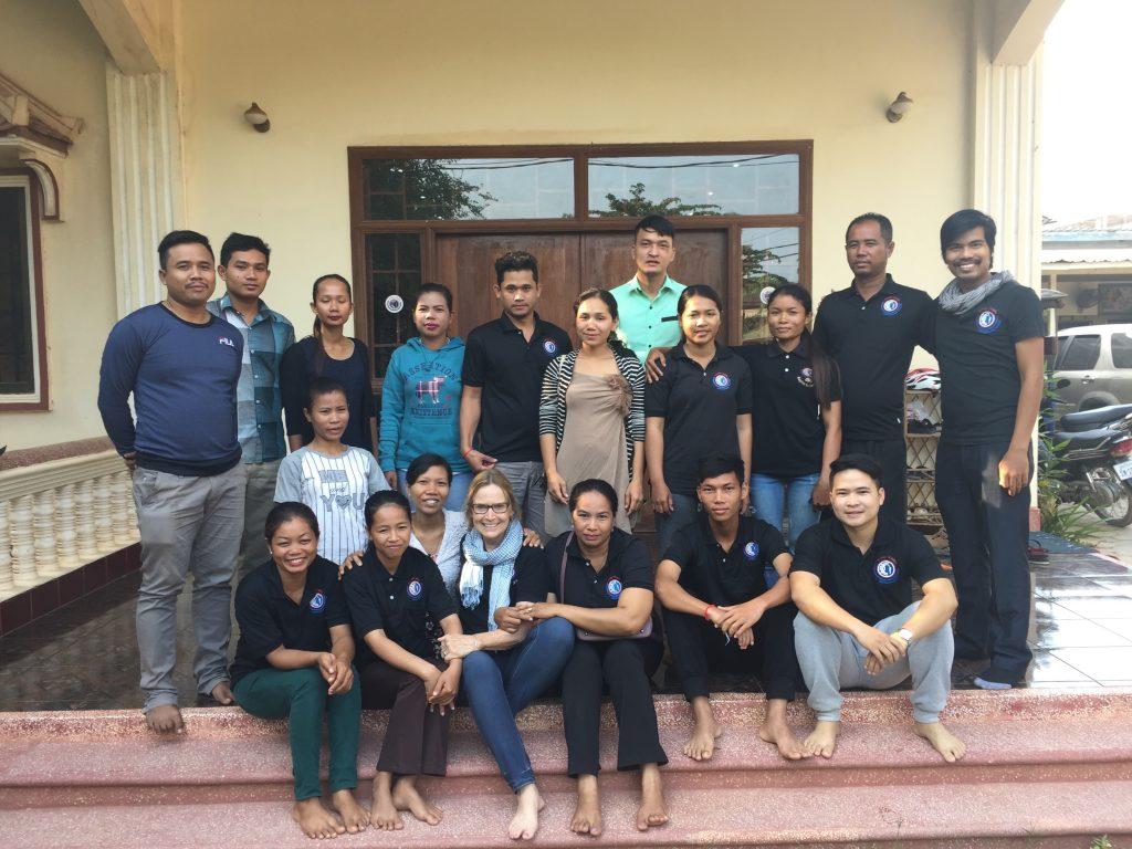 Carol, volunteer English teacher in Cambodia