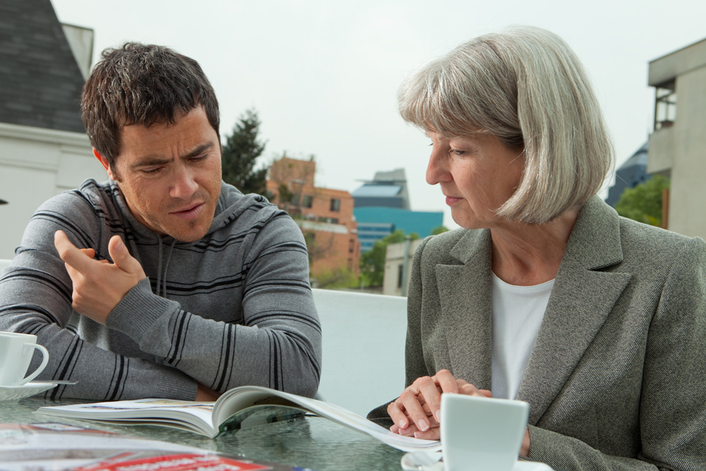 Private tutor working with English student
