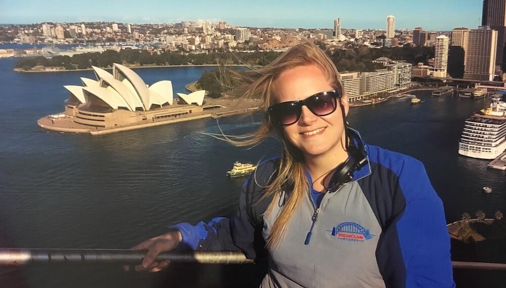 Jordan, teacher in China, visiting Sydney, Australia
