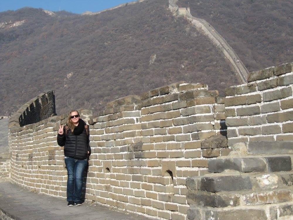 Jordan, teacher in China at The Great Wall