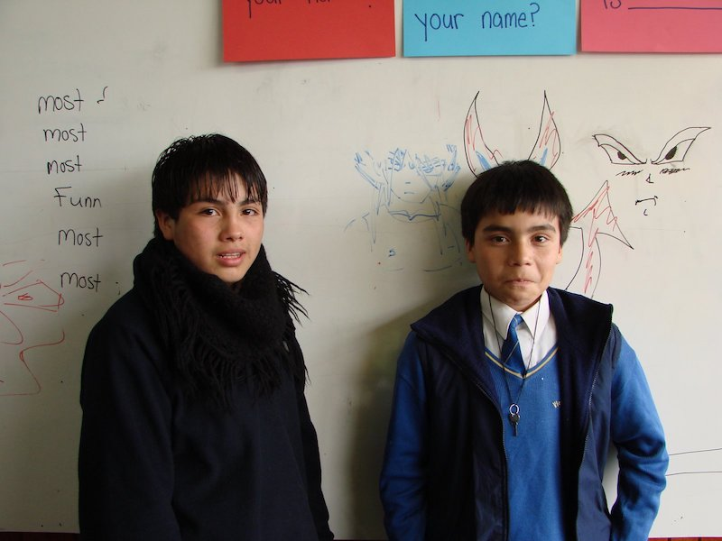 Young Chilean English students
