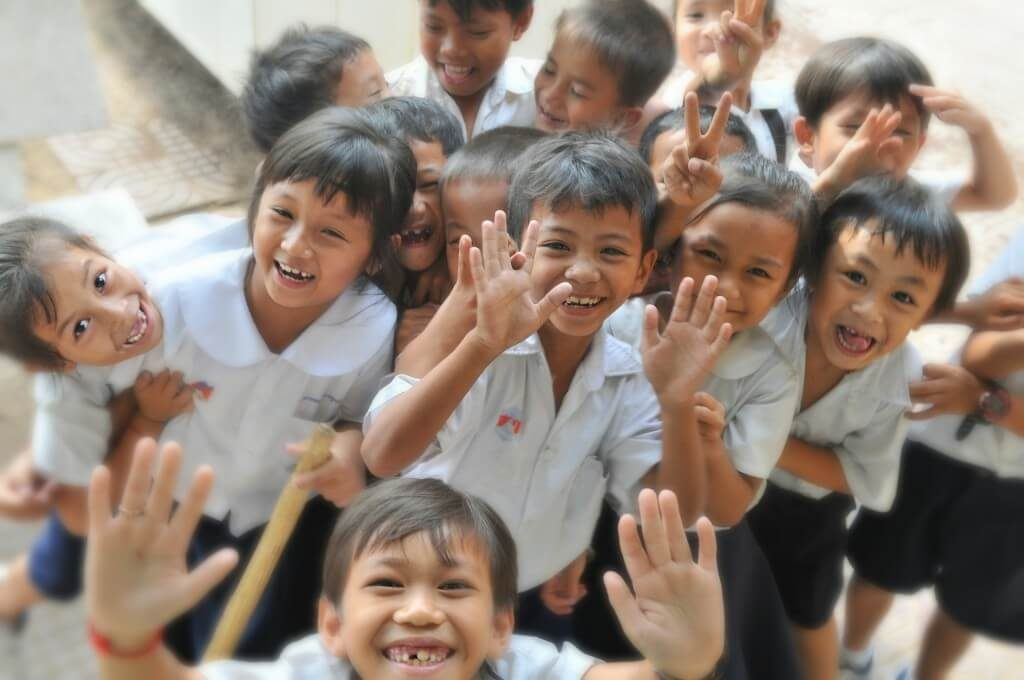 Cambodian class of young learners