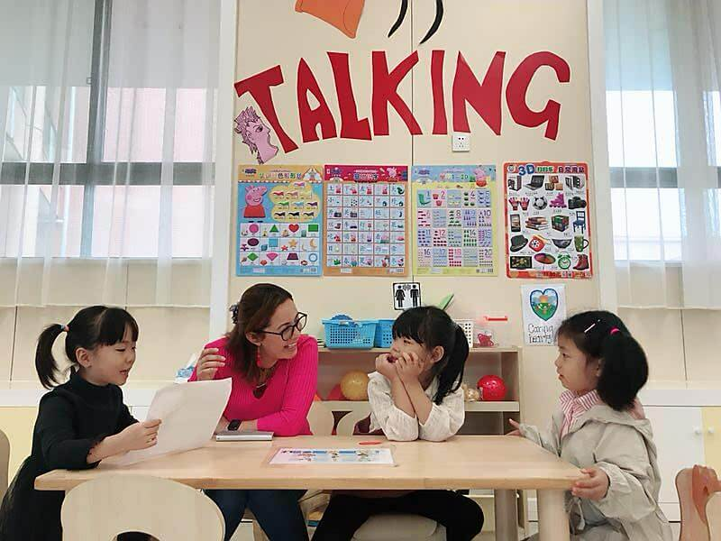 Bridge grad, Yeymy, with her students in China
