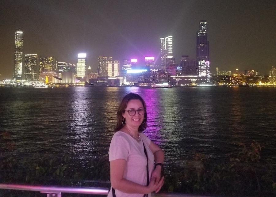 Carolina, English teacher in China, visiting Hong Kong