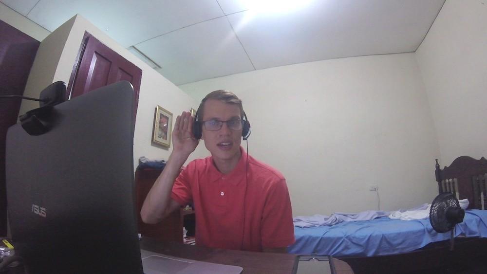 Ben, teaching English online from Nicaragua