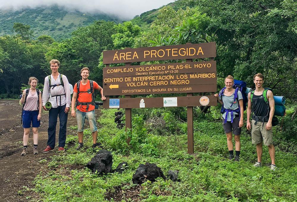 Ben, teacher in Nicaragua, before hiking El Hoyo Volcano