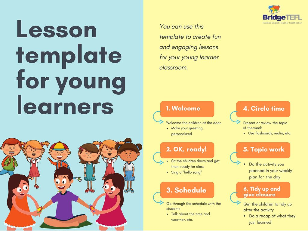 Lesson plan template for teaching young learners