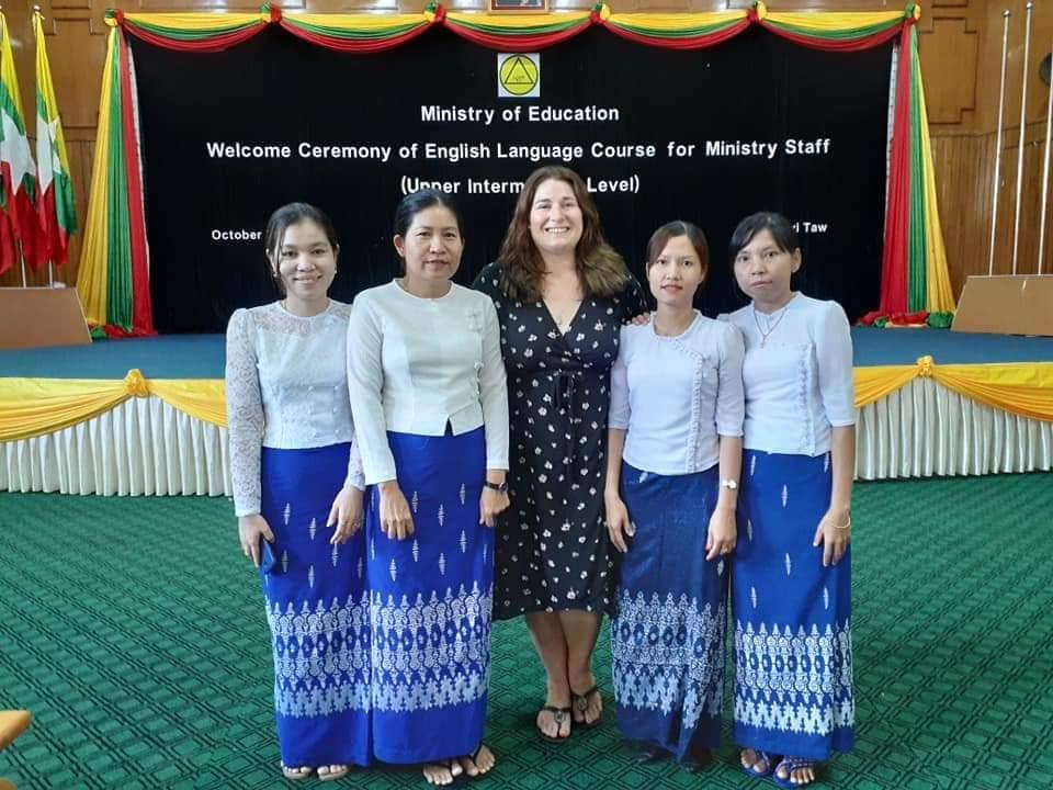 Loren, English Fellow Training Teachers in Myanmar