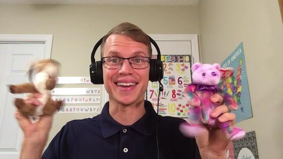 Ben Dailey, teaching English online