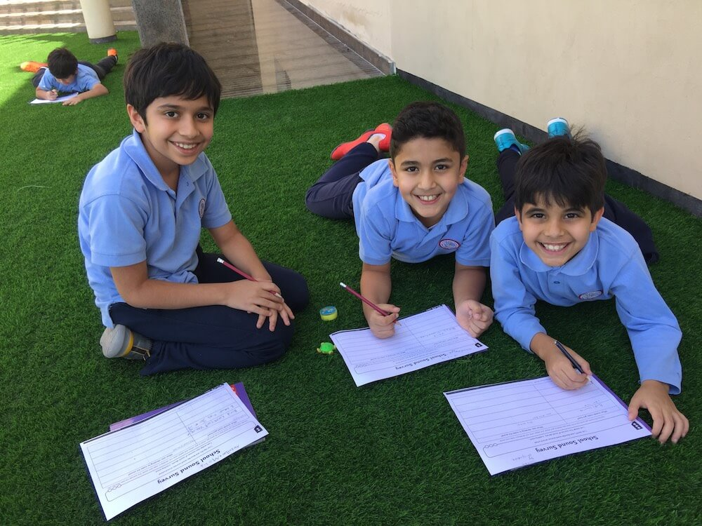 Jasmine, teacher in Bahrain's, students