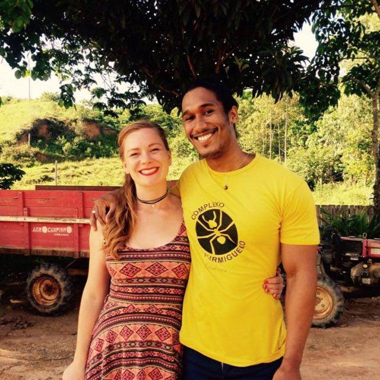 Maggie and her Brazilian fiance, Elon