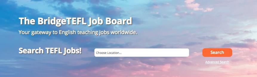 The BridgeTEFL Job Board Search