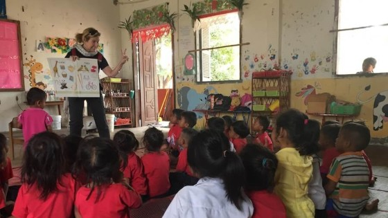 Carol is an English teacher trainer in Cambodia
