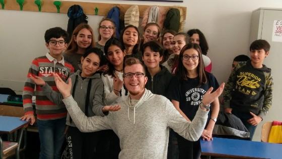 TEFL Teacher with class
