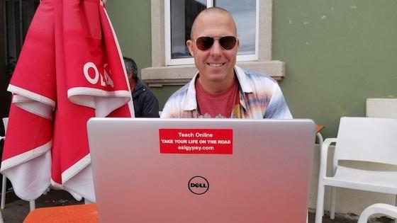 Digital Nomad English Teacher, Jay, in Portugal