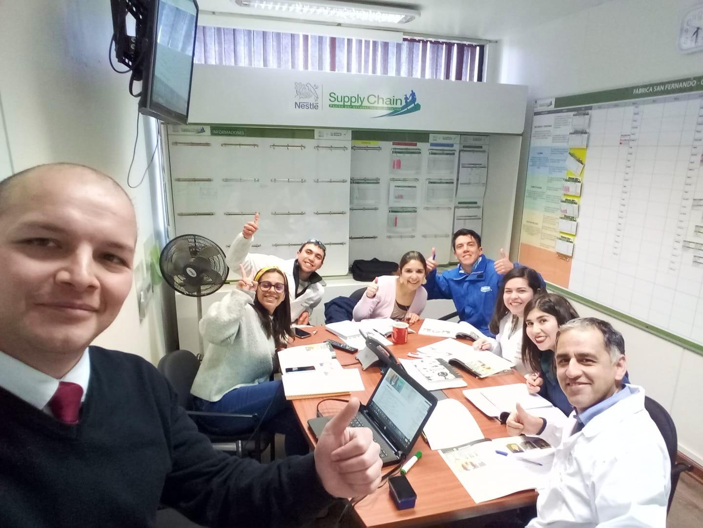 Jorge Vergara teaching Business English in Chile