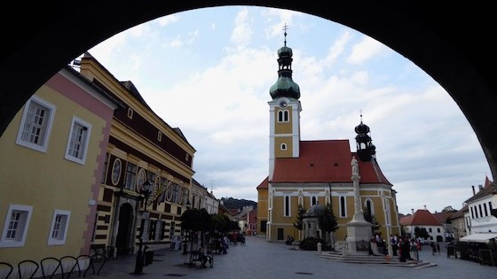 Town square in town of Koszeg, Hungary
