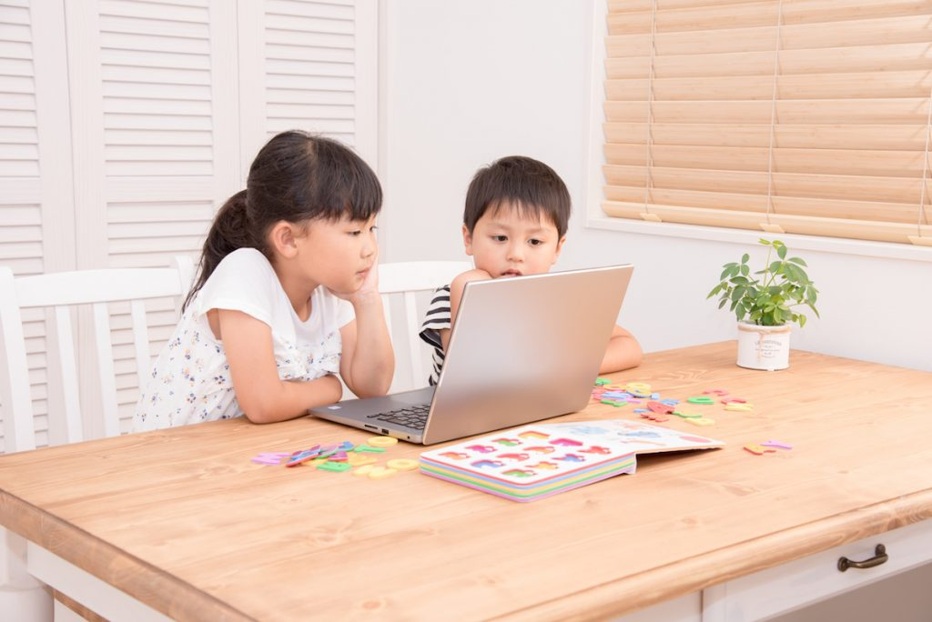 Kids learning English online