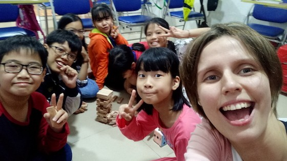 ESL Teacher with Young Students