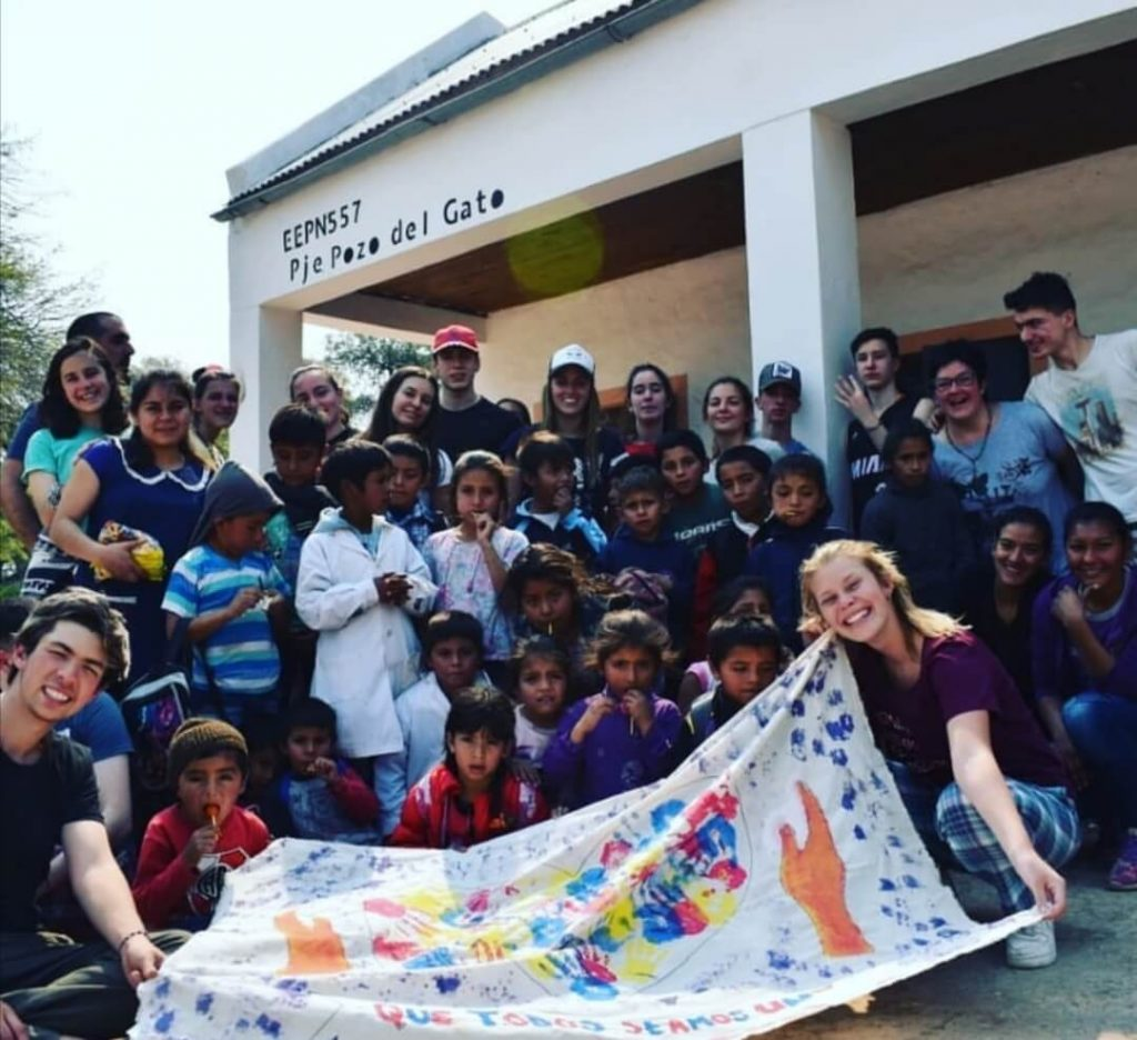 Veronica's students give back