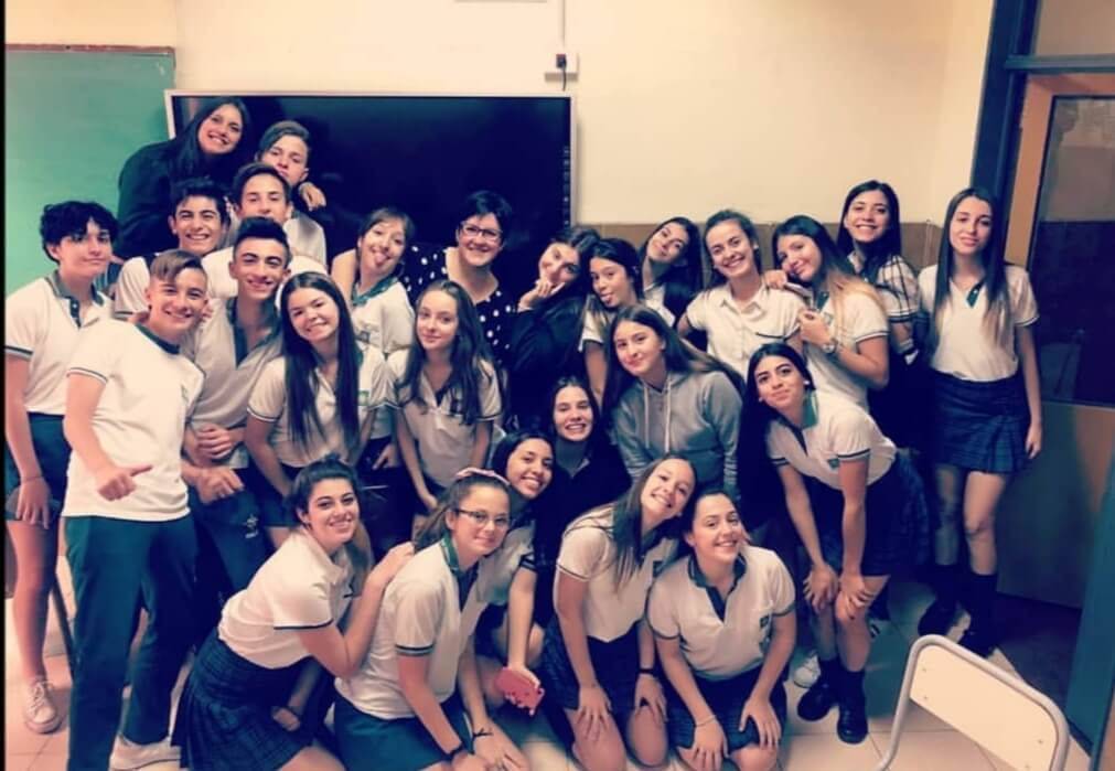 Veronica Curzi's class in Argentina