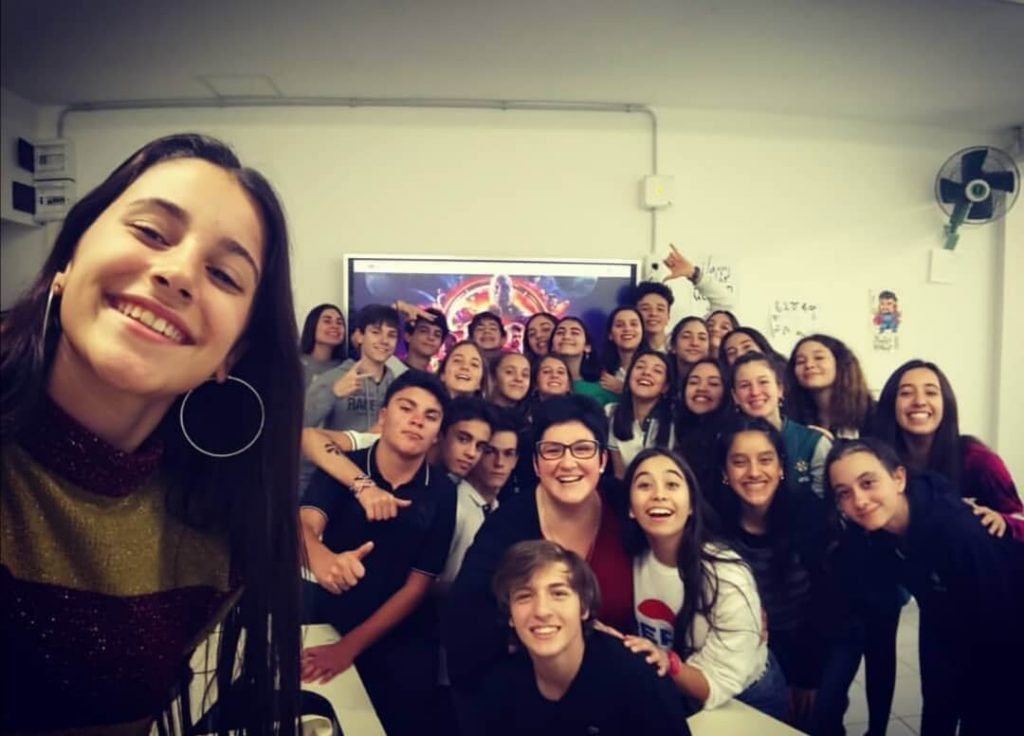 Veronica's class in Argentina