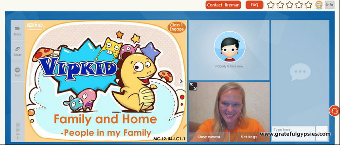 Rachel tutoring with VIPKid