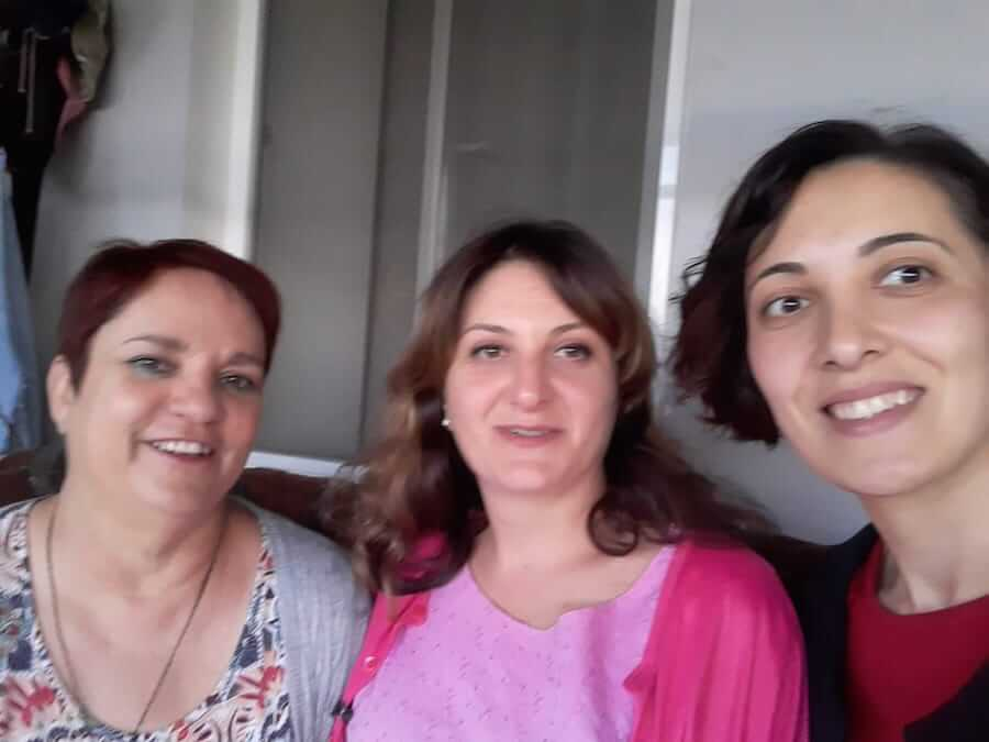 Britta, teacher in Georgia, with co-workers