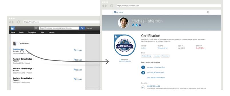 Digital badge for TEFL used on LinkedIn