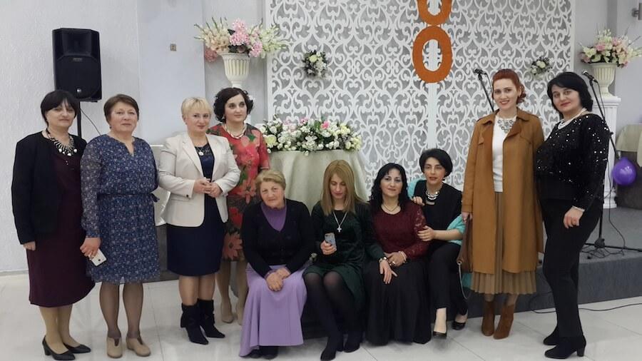 Britta, teacher in Georgia, with her colleagues
