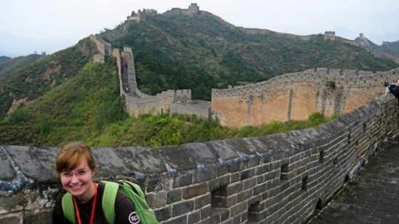 Kimmy, English teacher in China at the Great Wall
