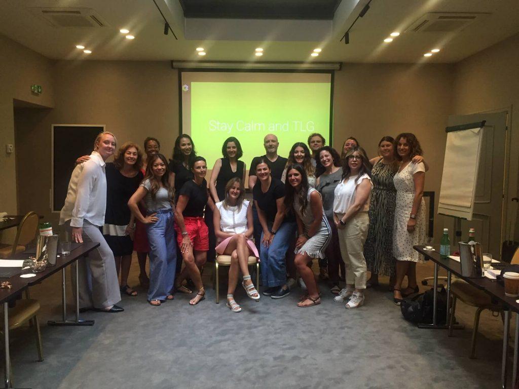 Jennifer Landini, English Teacher in Rome with her students