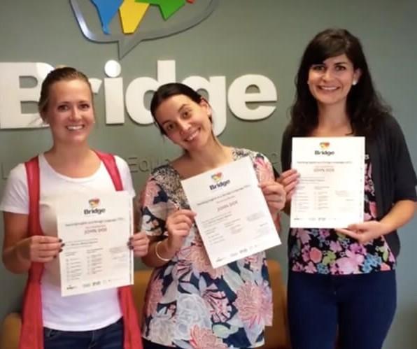 TEFL certified teachers holding certificates