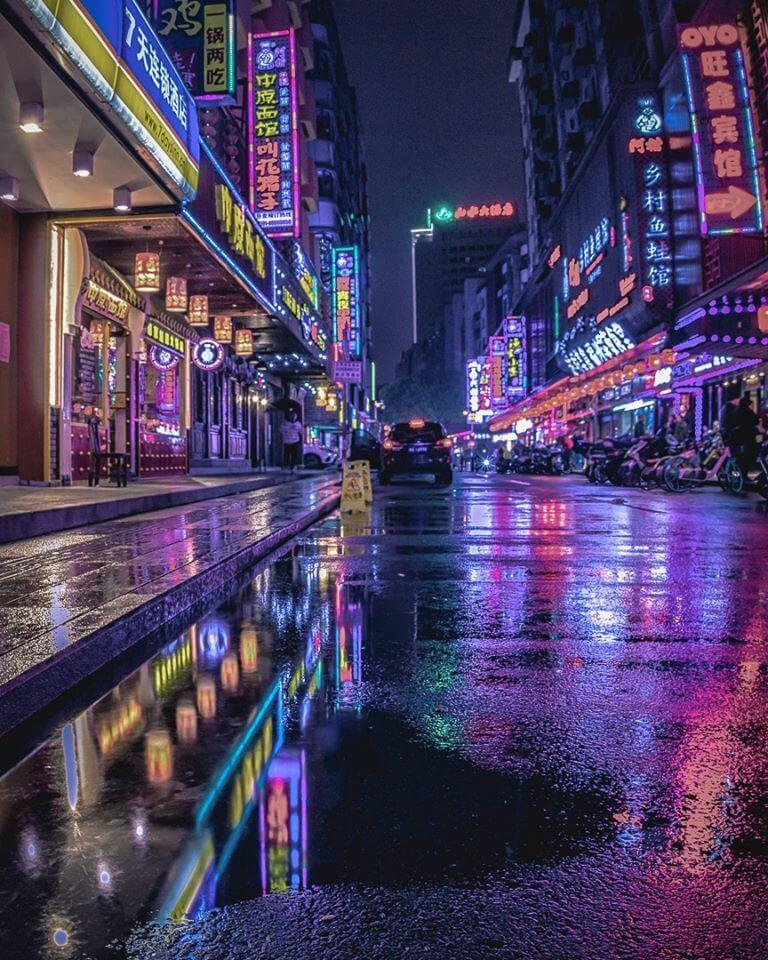 Fuzhou, China downtown