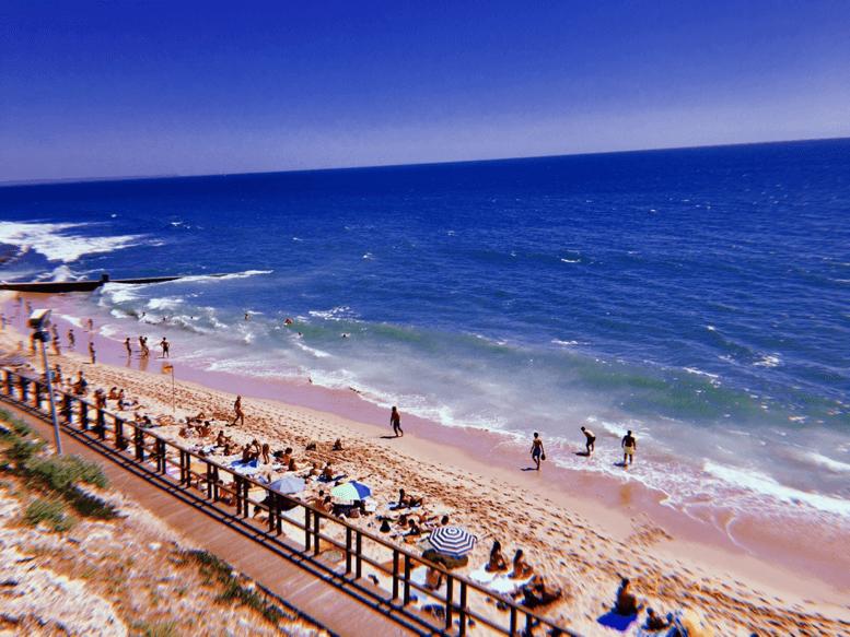 The beach near Natassia's apt in Lisbon