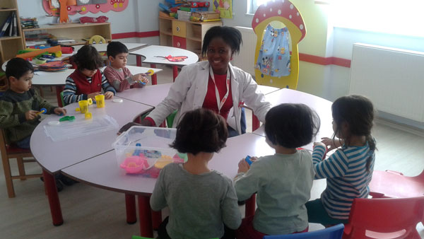 A Bridge grad teaching English to young learners in Turkey