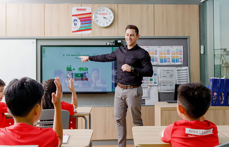 Teacher in ESL class, APAX English