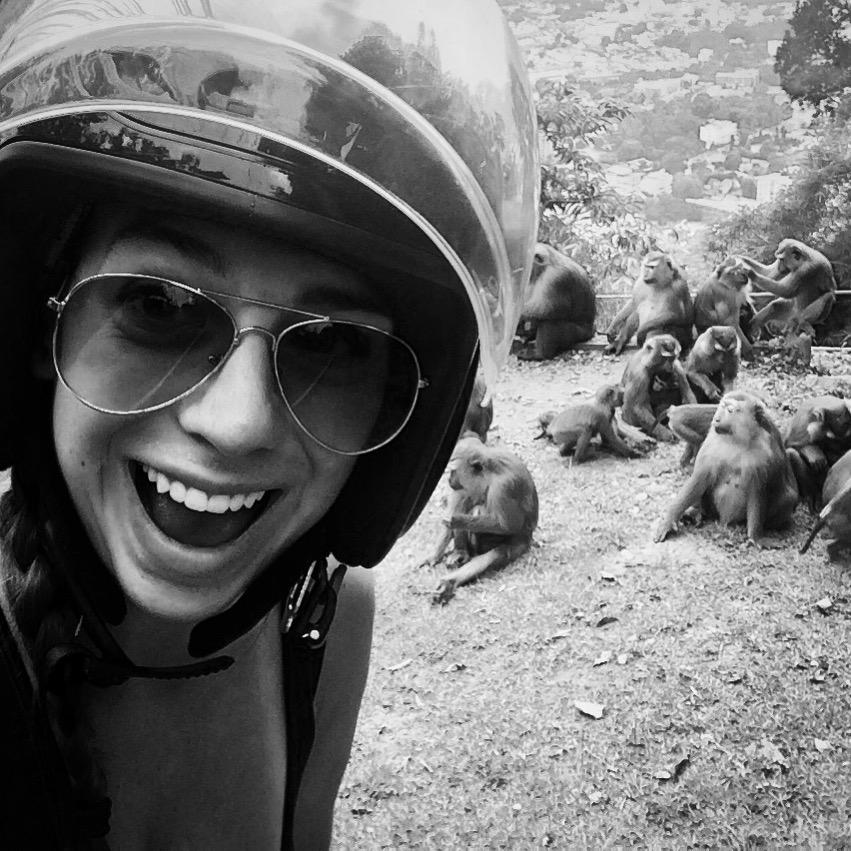 Mikki, teacher in Thailand, visiting Monkey Hill