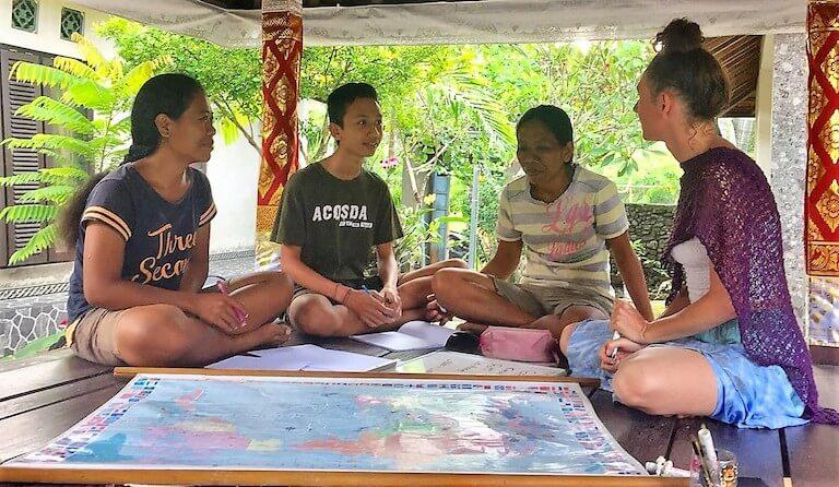 Adult community ESL classes in Indonesia