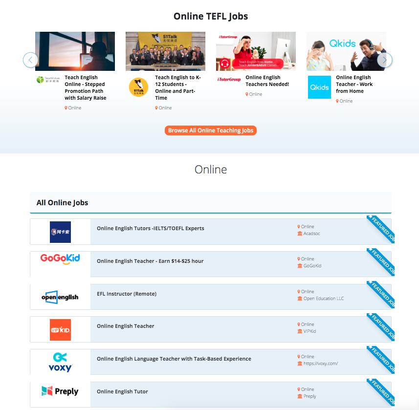 Online Teaching Jobs on the Bridge Job Board