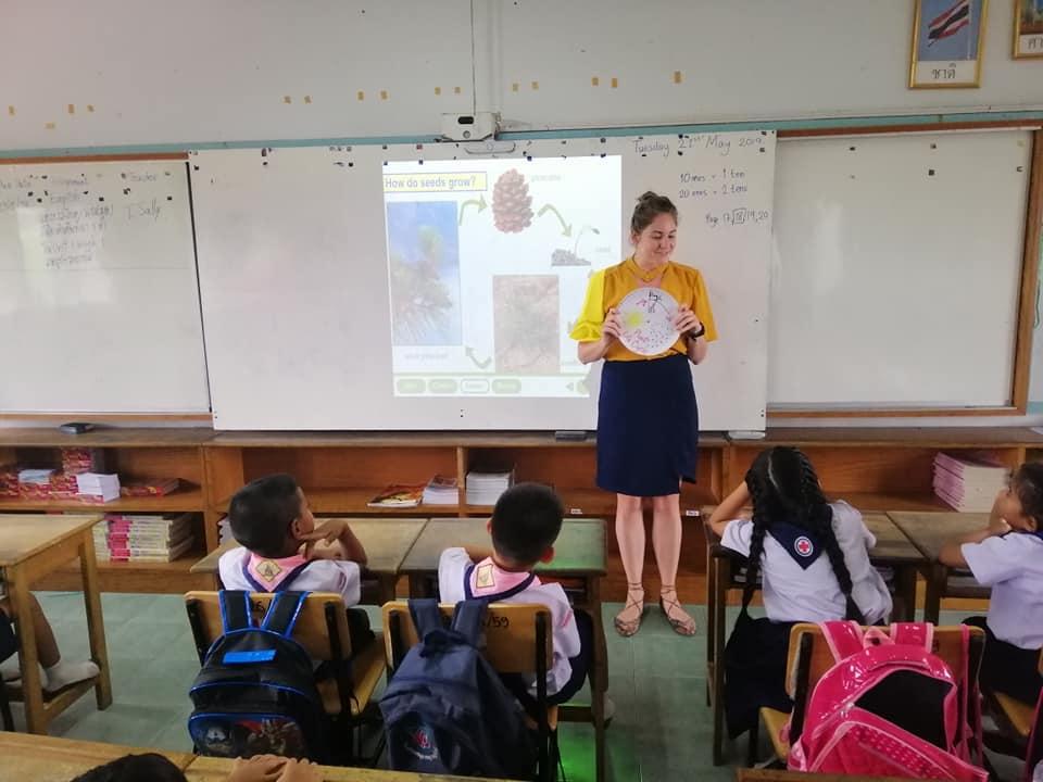 BFITS Thailand teacher with class