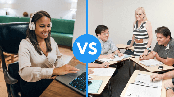 Teaching English Online vs in the Classroom