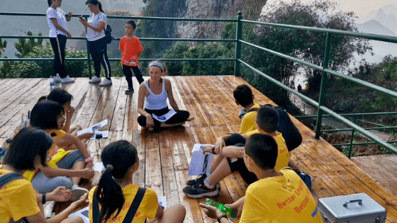 A teacher teaching abroad in China.